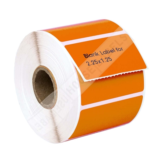 Picture of Zebra - 2.25x1.25 ORANGE (50 Rolls – Shipping Included)