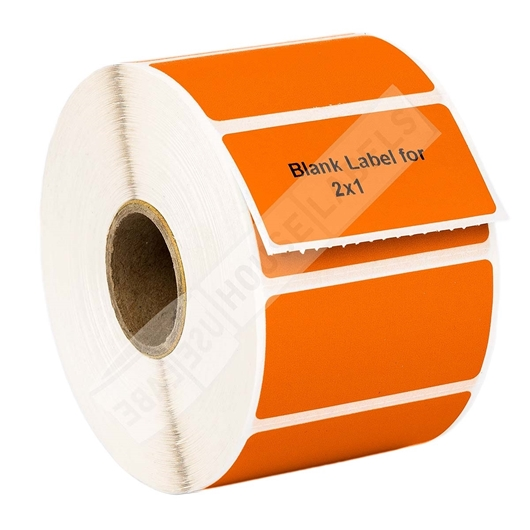 Picture of Zebra - 2x1 ORANGE (100 Rolls – Shipping Included)