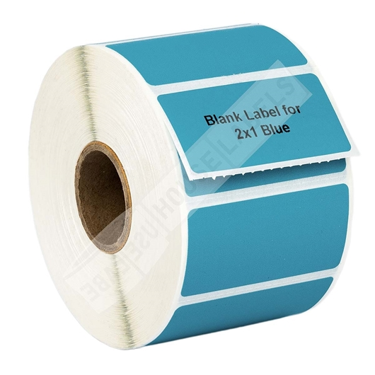Picture of Zebra - 2x1 BLUE (50 Rolls – Shipping Included)