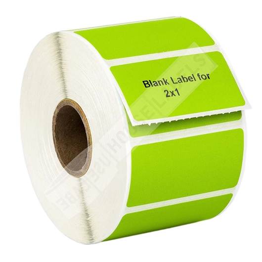 Picture of Zebra - 2x1 GREEN (100 Rolls – Shipping Included)